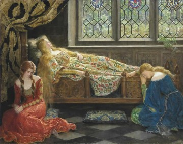 Sleeping Art - sleeping beauty 1929 John Collier Pre Raphaelite Orientalist